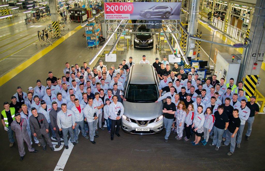 Завод Nissan в Санкт-Перербурге